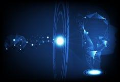Το ψηφιακό δαχτυλίδι τεχνολογίας προσδιορίζει το ανθρώπινο και τεχνητό intelligen ελεύθερη απεικόνιση δικαιώματος