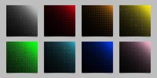 Το ψηφιακό ημίτονο σχέδιο υποβάθρου σχεδίων κύκλων έθεσε - διανυσματικά χαρτικά γραφικά με τα χρωματισμένα σημεία Στοκ Φωτογραφίες