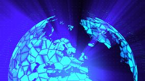 Το ψηφιακό υπόβαθρο διαστρεβλώσεων σφαιρών γυαλιού, αφαιρεί τρισδιάστατο δίνει, παραγμένο υπολογιστής σκηνικό ελεύθερη απεικόνιση δικαιώματος