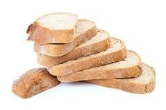 το ψωμί ανασκόπησης απομόνωσε το λευκό Στοκ Εικόνες
