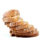το ψωμί ανασκόπησης απομόνωσε το λευκό Στοκ Φωτογραφίες