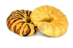 Το ψωμί απομόνωσε το άσπρο υπόβαθρο Στοκ Εικόνα