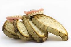 το ψωμί δεν έχει κανένα δόντι Στοκ Εικόνες