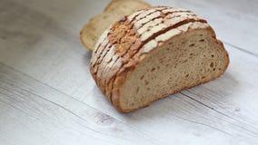το ψωμί τεμάχισε το λευκό Στοκ φωτογραφίες με δικαίωμα ελεύθερης χρήσης