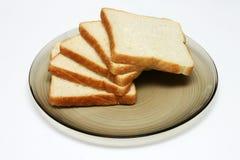 το ψωμί τεμαχίζει το λευκό Στοκ Εικόνα