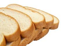 το ψωμί τεμαχίζει το λευκό στοκ φωτογραφία με δικαίωμα ελεύθερης χρήσης