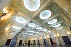 Το δωμάτιο θρόνων της προηγούμενης Royal Palace στην Βουκουρέστι-Ρουμανία Στοκ φωτογραφίες με δικαίωμα ελεύθερης χρήσης