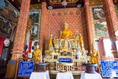 Το όμορφο άγαλμα του Βούδα σε Wat Mahawan Στοκ εικόνα με δικαίωμα ελεύθερης χρήσης