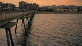Το όμορφο βράδυ κοντά στη θάλασσα cinemagraph έθεσε φιλμ μικρού μήκους