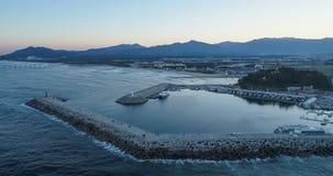 Το όμορφο ηλιοβασίλεμα της παραλίας Gangneung Anmok Στοκ Φωτογραφίες