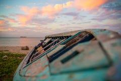 Το όμορφο ηλιοβασίλεμα του Μαυρίκιου Στοκ εικόνες με δικαίωμα ελεύθερης χρήσης