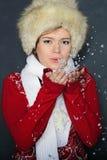 το όμορφο κορίτσι γουνών &epsi Στοκ Εικόνες
