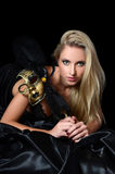 Το όμορφο κορίτσι στη μάσκα καρναβαλιού Στοκ Εικόνες