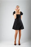 το όμορφο κορίτσι φυσαλί&de Στοκ Εικόνες