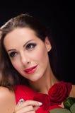 Το όμορφο, μοντέρνο χαμόγελο γυναικών αυξήθηκε Στοκ φωτογραφία με δικαίωμα ελεύθερης χρήσης