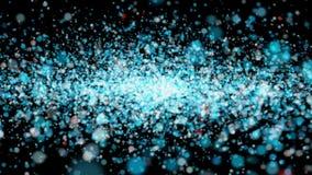 Το όμορφο πέταγμα ζωτικότητας λαμπρό ακτινοβολεί τρέμοντας μόρια σε ένα μαύρο άλφα κανάλι υποβάθρου διανυσματική απεικόνιση