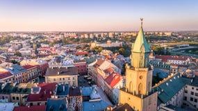 Το όμορφο πανόραμα του Lublin στοκ εικόνα με δικαίωμα ελεύθερης χρήσης