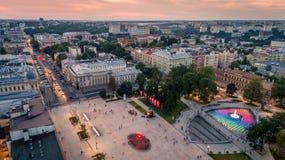 Το όμορφο πανόραμα του Lublin Στοκ Φωτογραφίες