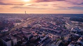 Το όμορφο πανόραμα του Lublin στοκ φωτογραφία με δικαίωμα ελεύθερης χρήσης