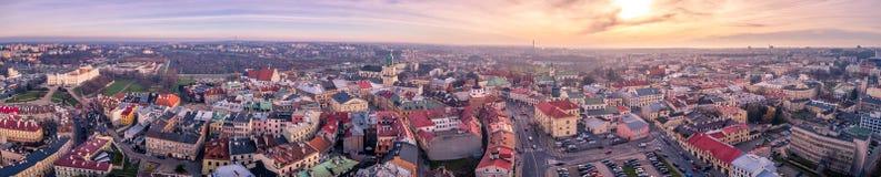 Το όμορφο πανόραμα του Lublin Στοκ Φωτογραφία