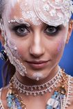 Το όμορφο πρότυπο με καλλιτεχνικό δημιουργικό αποτελεί Στοκ Εικόνες