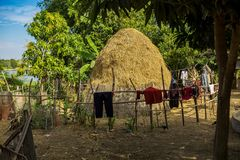 Το όμορφο ταξίδι επαρχίας στην τροπική αγροτική περιοχή, Siem συγκεντρώνει, Καμπότζη στοκ εικόνες