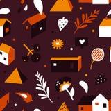 Το όμορφο φθινόπωρο στεγάζει το σχέδιο Στοκ Εικόνες