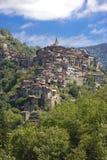 Το όμορφο χωριό Apricale, κοντά σε Sanremo, Λιγυρία, Ιταλία Στοκ εικόνα με δικαίωμα ελεύθερης χρήσης