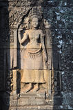 Το όμορφο apsara στο ναό Bayon, Siem συγκεντρώνει, Καμπότζη Στοκ φωτογραφίες με δικαίωμα ελεύθερης χρήσης