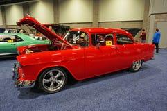 Το όμορφο Bel Air κόκκινο Hotrod Στοκ Εικόνες