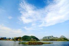 Το όμορφο lakeview στο νομό puzhehei, yunnan, Κίνα Στοκ φωτογραφίες με δικαίωμα ελεύθερης χρήσης