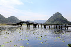 Το όμορφο lakeview στο νομό puzhehei, yunnan, Κίνα Στοκ Φωτογραφία