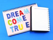 Το όνειρο έρχεται αληθινή έννοια Στοκ Εικόνες