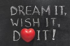Το όνειρο, επιθυμία, κάνει την καρδιά Στοκ Εικόνες