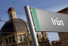 Το όνομα πόλεων σιδηροδρομικών σταθμών καθοδηγεί Στοκ εικόνες με δικαίωμα ελεύθερης χρήσης