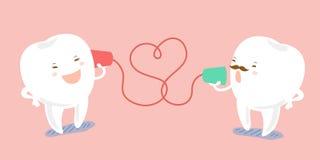 Το δόντι κινούμενων σχεδίων που μιλά μπορεί να τηλεφωνήσει Στοκ Εικόνα