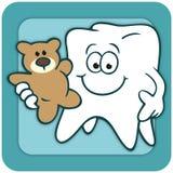 Το δόντι με Teddy αντέχει το λογότυπο Στοκ Εικόνες