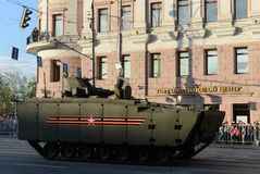 Το όχημα αγώνα πεζικού βάσει ενός ελπιδοφόρου μέσου πλατφορμών ακολούθησε kurganets-25 Στοκ φωτογραφία με δικαίωμα ελεύθερης χρήσης