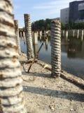 Το όχι-χτισμένο κτήριο που μετατρέπεται σε έλος Στοκ εικόνα με δικαίωμα ελεύθερης χρήσης