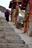Το ύφασμα των scriptures στο περιστρέψιμο σχέδιο του Θιβέτ Στοκ φωτογραφίες με δικαίωμα ελεύθερης χρήσης