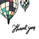 το δώρο καρτών που απομονώνεται άσπρο ευχαριστεί εσείς Συρμένο χέρι γράμμα Τ γραφικό Τυπογραφική αφίσα τυπωμένων υλών Το χέρι μπλ Στοκ εικόνα με δικαίωμα ελεύθερης χρήσης