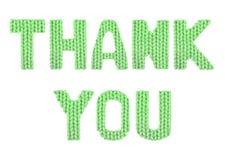 το δώρο καρτών που απομονώνεται άσπρο ευχαριστεί εσείς Χρώμα πράσινο Στοκ Εικόνες