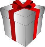 το δώρο κιβωτίων απομόνωσε το λευκό Στοκ Εικόνα