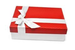 το δώρο κιβωτίων απομόνωσε το λευκό Στοκ εικόνα με δικαίωμα ελεύθερης χρήσης