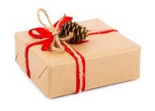 το δώρο κιβωτίων απομόνωσε το λευκό Στοκ εικόνες με δικαίωμα ελεύθερης χρήσης