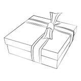το δώρο κιβωτίων απομόνωσε το λευκό Στοκ Φωτογραφίες