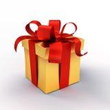 το δώρο κιβωτίων απομόνωσε το λευκό Στοκ Εικόνες