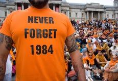 το 1984 δεν ξεχνά ποτέ Στοκ εικόνες με δικαίωμα ελεύθερης χρήσης