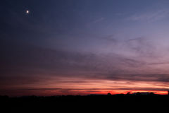 Το Abendlicht στο der η Τοσκάνη Στοκ Εικόνες