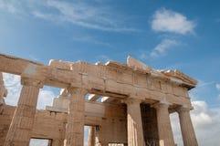 Το Acropolys της Αθήνας - propylaea στοκ εικόνα με δικαίωμα ελεύθερης χρήσης